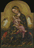 Zanino_di_Pietro_The_Madonna_of_Humility_Flanked_by_two_Angels