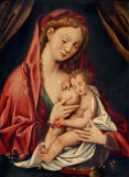 seguidor-de-JOOS-VAN-CLEVE Follower-of-Madonna-and-the-child