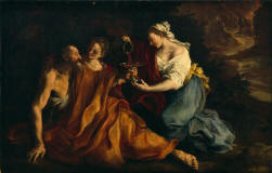 Bartolomeo_Guidobono-Lot_with_his_daughters-1700