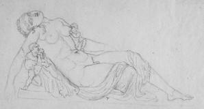 Drawing_of_a_sculpture_-_Hermaphroditus_with_three_infants